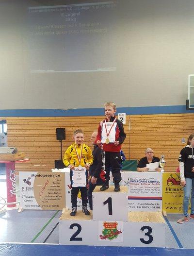 Hessenmeister in gr.röm  Marvin Schwarz und Edward Klassen.